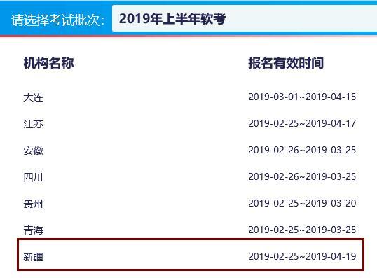新疆2019上半年计算机软件水平考试报名时间已公布