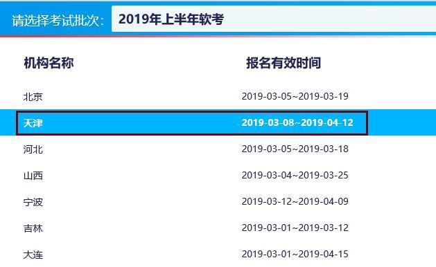天津2019年计算机软件水平考试报名时间汇总