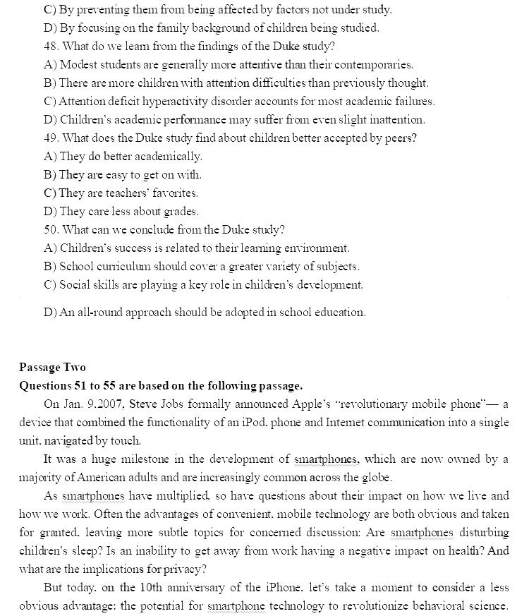 必威体育betwayAPP下载吧:2018年12月英语六级必威体育betwayAPP下载真题(卷一完整版)
