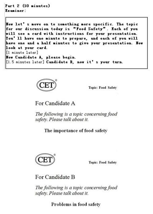 大学英语六级口语必威体育betwayAPP下载(CET-SET6)试题构成以及样题