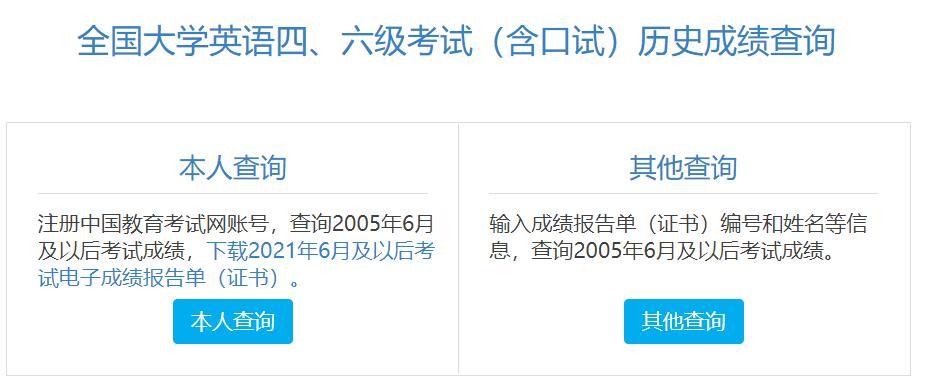 2021年6月广东英语六级考试电子版成绩报告单打印入口
