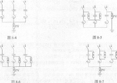 10kv并联电容器组过电压可采用图8-4~图8-7中哪一个