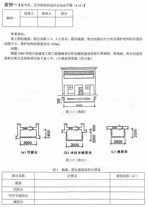 2013年四川造价员考试(土建专业)真题及答案