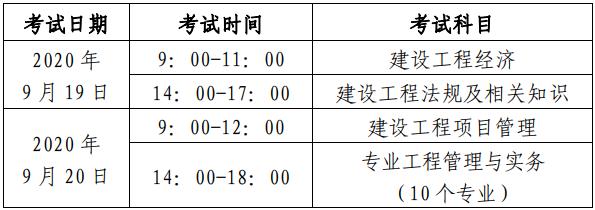 2020年北京二级建造师考试时间图片