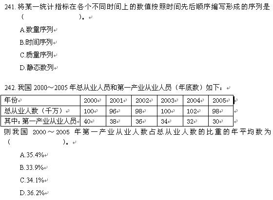 2010中级经济师《经济基础知识》精选单选题(7)