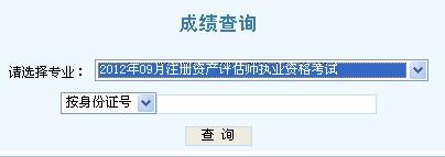 2012天津资产评估师成绩查询入口 点击进入