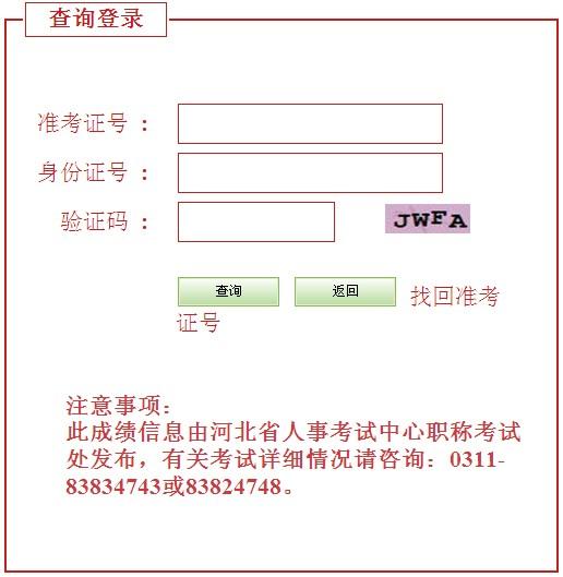 2012河北经济师成绩查询时间及入口