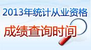 2013年统计从业资格考试成绩查询时间