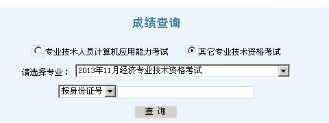 2013年天津经济师考试成绩查询入口