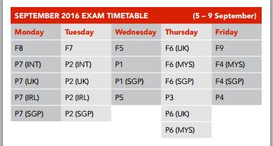 2016年ACCA3月、6月、9月考试时间已经确定