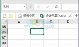 会计从业 会计电算化 基础知识点 Excel软件的编辑区图片