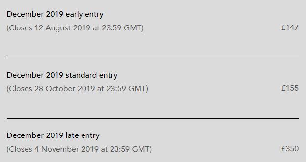 2019年12月ACCA考试费用已公布