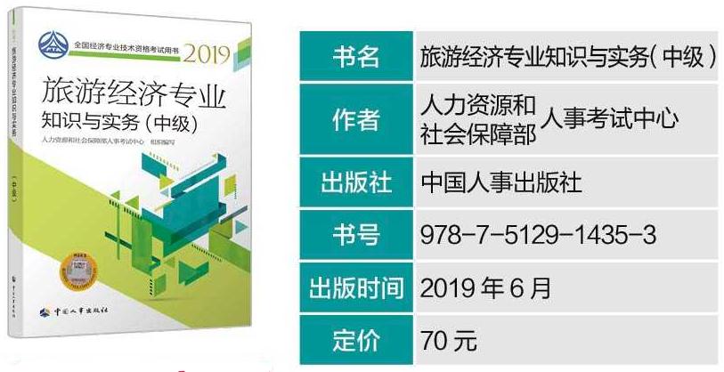 2019年中级经济师必威体育betwayAPP下载教材--《旅游经济专业实务》