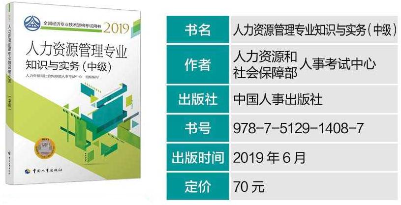 2019年中级经济师必威体育betwayAPP下载教材--《人力资源专业实务》
