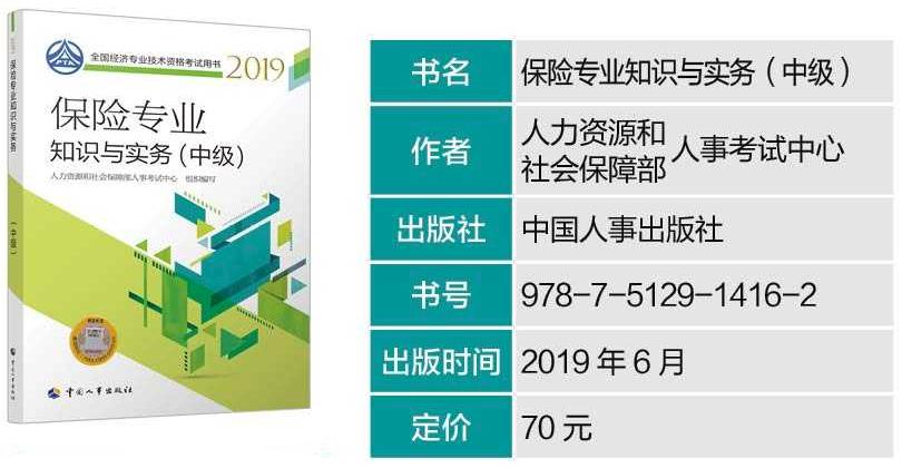 2019年中级经济师必威体育betwayAPP下载教材--《保险专业知识与实务》