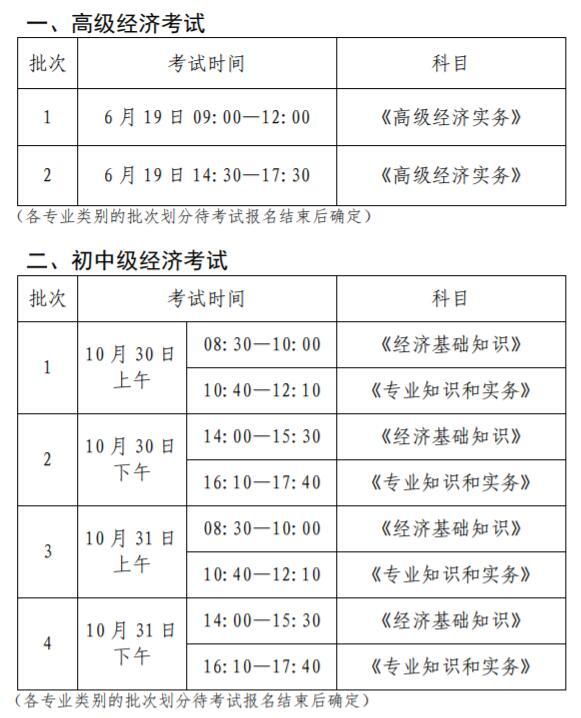 浙江2021年经济师考试时间安排已公布