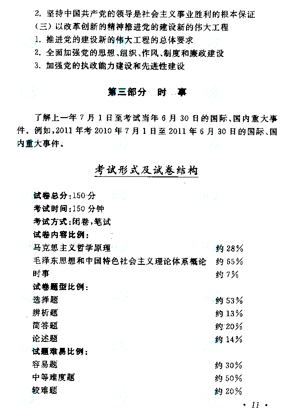 2015年成人高考专升本《政治》考试大纲