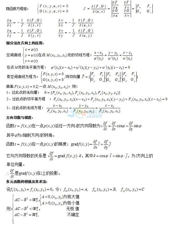 2017成人高考专升本《高等数学》知识点梳理(5)