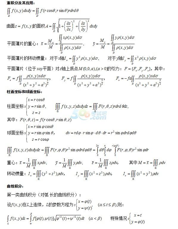 2017成人高考专升本《高等数学》知识点梳理(6)