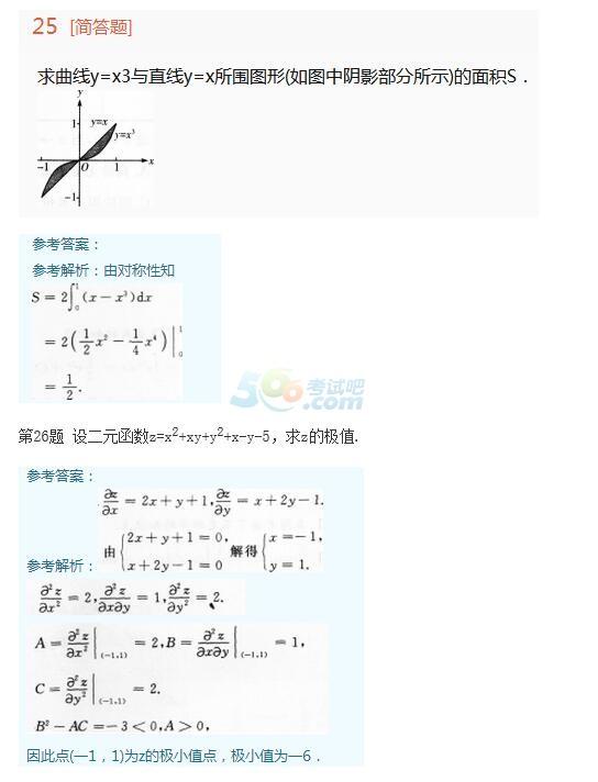 2015年成人高考专升本《高等数学一》真题及答案