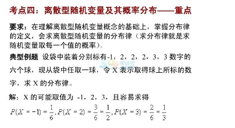 2017成考专升本《高等数学》考点解析:随机变量