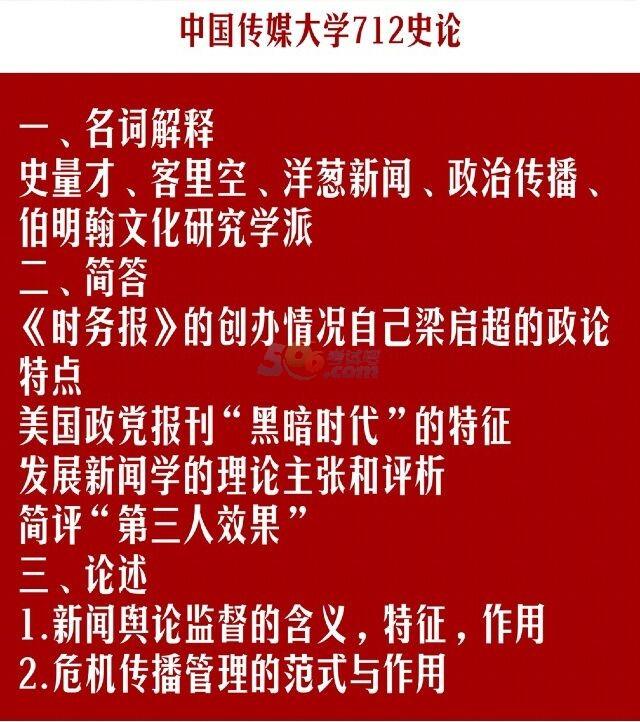 中国传媒大学2018年考研712史论真题