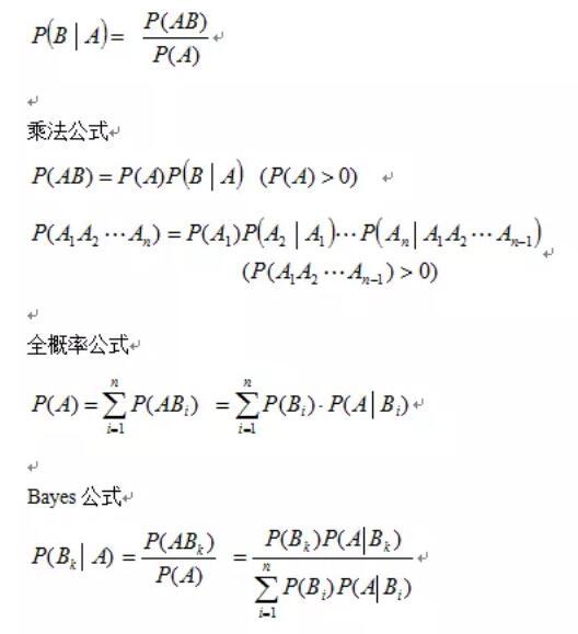 2020考研数学概率论必背公式:条件概率