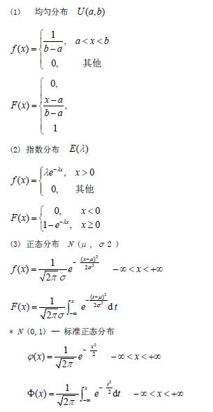 2020考研数学概率论必背公式:连续型随机变量