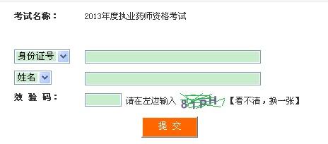 四川2013年执业药师准考证打印入口