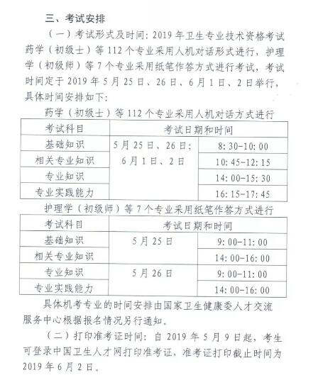 新疆自治区2019年卫生资格必威体育betwayAPP下载具体安排