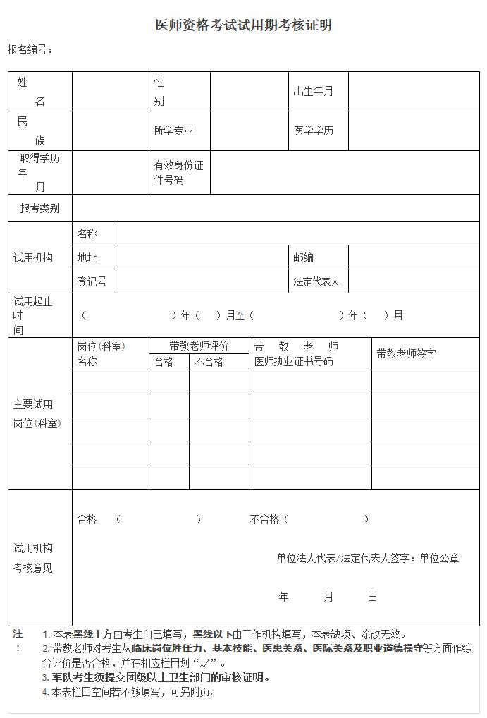 2019中西医结合执业助理医师考试报名审核材料清单