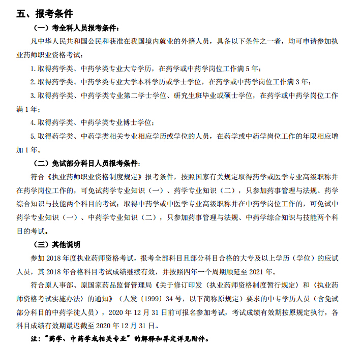 山西省2019年执业药师考试报考条件已公布