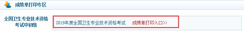 2019陕西卫生资格成绩单打印入口:中国卫生人才网