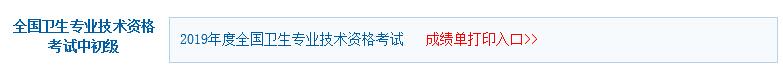 北京2019年主管护师考试成绩单打印入口 点击进入