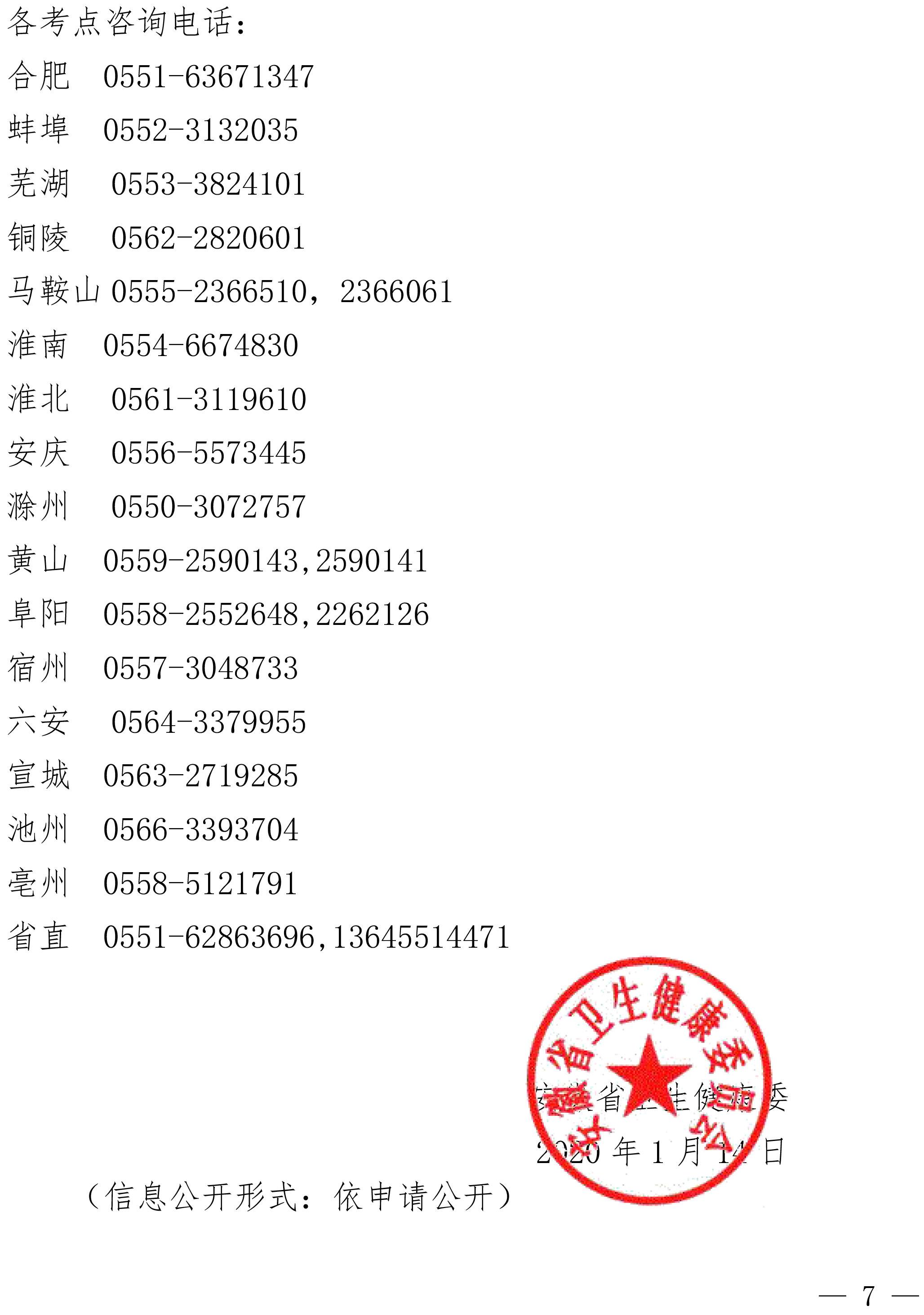 安徽省2020年医师资格考试报名通知