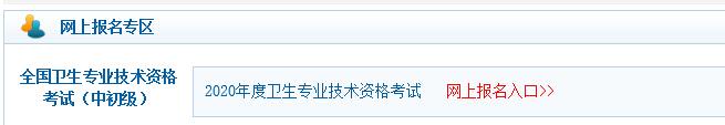 中国卫生人才网2020年主管护师考试网上缴费入口