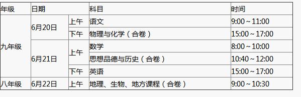 2018年湖北咸宁中考考试方案正式公布