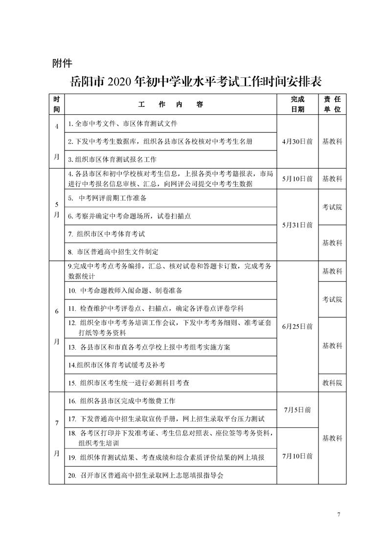 岳阳2020年中考成绩查询时间