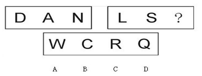 2020国家公务员考试行测图形推理字母题型怎么解