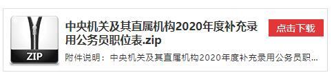 2020年国家公务员补充录用公务员职位表下载